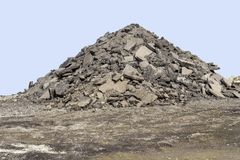 Pavement pile Royalty Free Stock Images