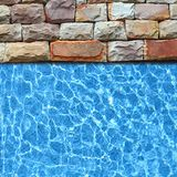 Pavement with pool background Royalty Free Stock Images