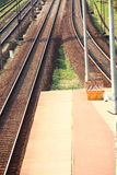 Pavement - railroad Royalty Free Stock Photography
