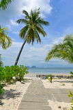Pavement in a resort leading to the beach. And Andaman Sea Stock Photo