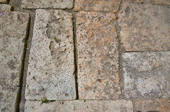 Pavement from sandstone. stock photos