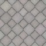 Pavement. Seamless Tileable Texture. Gray Figured Pavement. Seamless Tileable Texture Royalty Free Stock Images