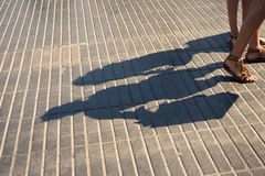 Pavement shadows Stock Image