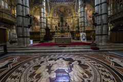 The pavement of Siena cathedral, Siena, Italy Stock Image