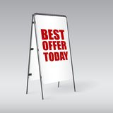 Pavement sign with the text Best offer today Royalty Free Stock Photos