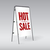 Pavement sign with the text Hot sale Stock Photography