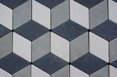 Pavement slabs. Texture pattern, yard tiles with 3d effect stock photography