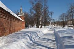 Pavement and snow drifts Stock Photo