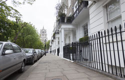 Pavement of south terrace in london kensington Royalty Free Stock Photos