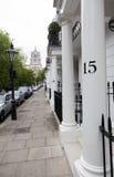 Pavement of south terrace in london kensington Stock Photos
