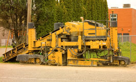 A pavement spreader in canada Stock Photography