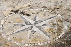 Pavement Stone with Compass Rose Stock Image