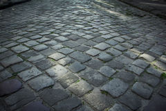 Pavement of stone in Lviv. Ukraine Royalty Free Stock Photo
