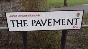 The pavement. Street sign london Royalty Free Stock Images