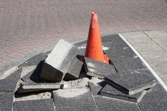 Pavement subsidence Stock Images