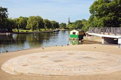Pavement sundial, Stratford-upon-Avon. Royalty Free Stock Image