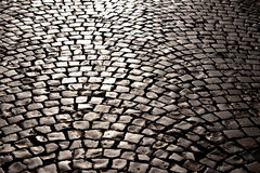 The pavement in the sunlight Stock Images