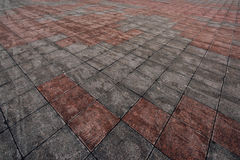 Pavement surface in perspective Stock Photo