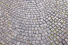 Pavement texture. Texture of ancient block pavement Stock Photo