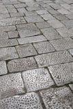 Pavement texture made of stone blocks Stock Image