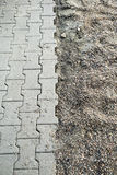 Pavement texture. Paving the footpath with the tiled cubes Royalty Free Stock Image