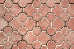 Pavement texture. Red pavement texture background close up Stock Photos