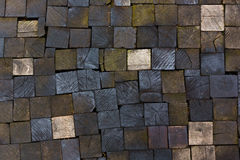 Pavement texture of wooden blocks Royalty Free Stock Photography