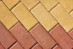 Pavement tiles Stock Images