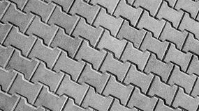 Pavement tiles black and white Royalty Free Stock Photos
