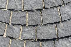 Pavement tiles hard stone Royalty Free Stock Photo