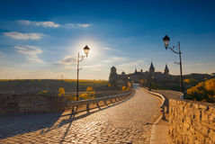 Pavement to the ancient castle Royalty Free Stock Photo