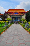 Pavement to Chinese Buddhist temple Royalty Free Stock Photography