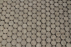 Pavement of Wood Blocks. Hi-res Pavement of Wood Blocks in top view Royalty Free Stock Images