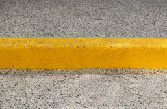 Pavement and yellow color line. Texture Royalty Free Stock Photography