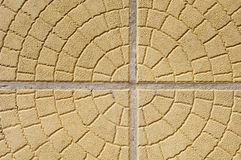 Pavement of yellow decorative tiles Royalty Free Stock Image