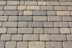 The pavement from yellow stone blocks Stock Images