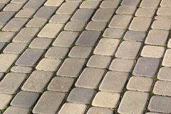 The pavement from yellow stone blocks Royalty Free Stock Image