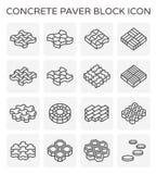 Paver block floor. Concrete paver block icon set Stock Photo