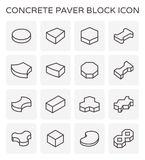 Paver block floor. Concrete paver block icon set Royalty Free Stock Images
