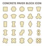 Paver Block Floor. Concrete paver block floor vector icon set Stock Photos