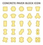 Paver block icon. Concrete paver block or paver brick vector icon sets Stock Images