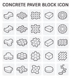 Paver block icon Royalty Free Stock Images