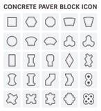 Paver block icon. Concrete paver block or paver brick vector icon sets Royalty Free Stock Photos