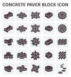 Paver block icon. Concrete paver block or paver brick vector icon sets Stock Photography