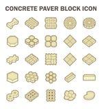 Paver block icon. Concrete paver block floor vector icon set Stock Photo