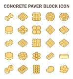 Paver block icon. Concrete paver block floor vector icon set Stock Image