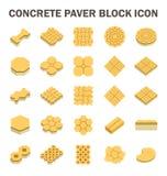 Paver Block Icon. Concrete paver block floor vector icon set Royalty Free Stock Photography