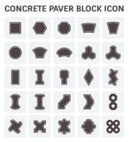 Paver block icon. Concrete paver block or paver brick vector icon sets Stock Image