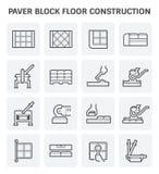 Paver block icon. Paver block floor construction vector icon set design Stock Photo