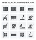 Paver block icon. Paver block floor construction vector icon set design Stock Image